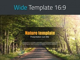 Natural Color Wide Template