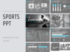 Sports PPT Template Wide