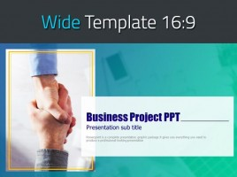 Business Project PPT Wide