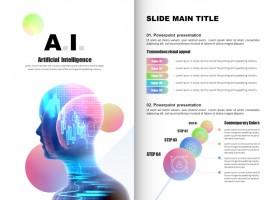 AI Presentation Template Vertical