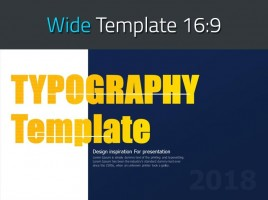 Typography PPT Template Wide