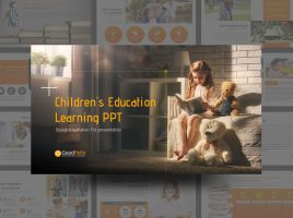 Children's Education Learning PPT Wide