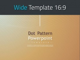 Dot Pattern PowerPoint Template Wide