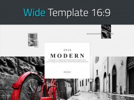 Modern Theme PowerPoint Template Wide