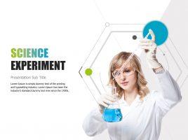과학 실험 템플릿