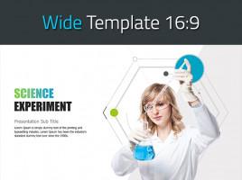 과학 실험 와이드 템플릿