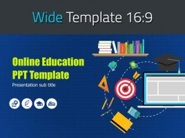 Online Education PPT Template Wide