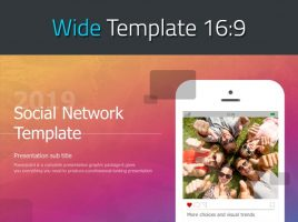 Social Network Template Wide