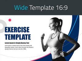 운동 테마 와이드 템플릿