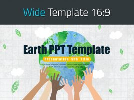 Earth PPT Template Wide