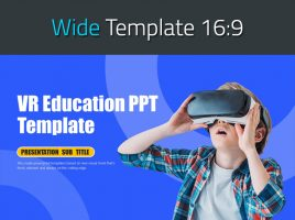 VR 교육 피피티 와이드 템플릿