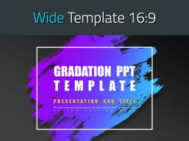 Gradation PPT Template Wide