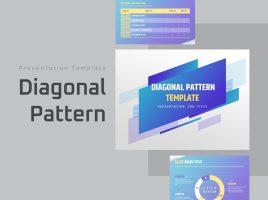 Diagonal Pattern Free PPT Template