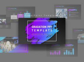 Gradation PPT Template Wide