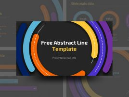 Free Abstract Line Template