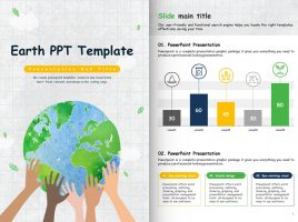 Earth PPT Template Vertical
