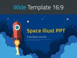 Space Illustration PPT Wide