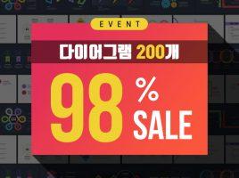 [할인 이벤트] 다이어그램 200slide