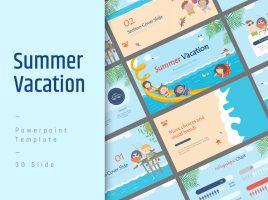 여름 방학 와이드 피피티
