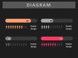 인포그래픽 가로 그래프