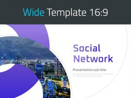 Social Network PPT Template Wide