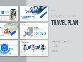 여행계획 프레젠테이션 와이드 템플릿