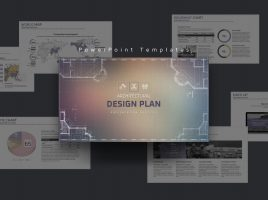 건축 설계도 컨셉 와이드 파워포인트 템플릿