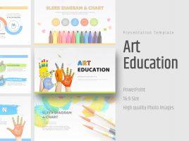 미술 교육 와이드 템플릿