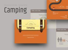 캠프 배낭 애니메이션 피피티 템플릿