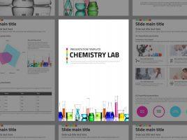 화학 실험실 세로형 프레젠테이션 템플릿