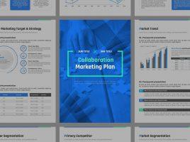 콜라보레이션 마케팅 세로형 기획서 템플릿