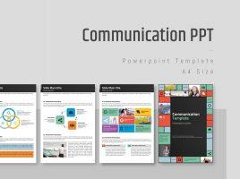 커뮤니케이션 세로형 피피티 템플릿