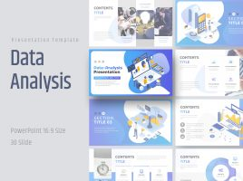 Data Analysis Presentation Template Wide