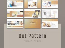 Dot Pattern PowerPoint Template Wide