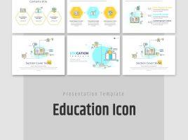 교육 아이콘 템플릿