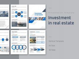 부동산 투자유치 세로형 템플릿