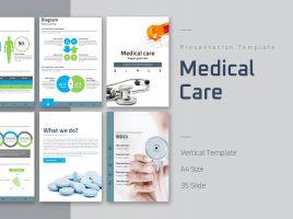 의료, 건강 관리 세로형 피피티 템플릿