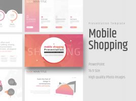 Mobile Shopping Presentation Template Wide