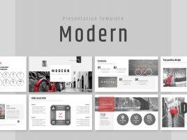 Modern Theme PowerPoint Template Wide
