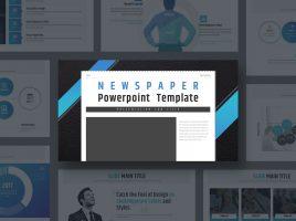 Newspaper PowerPoint Template Wide