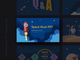 Space Illustration PPT Wide