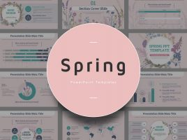 Spring PPT Template Wide