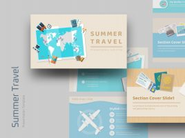 Summer Travel PPT Template Wide