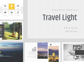 Travel Light PPT Template Wide