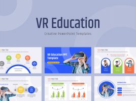VR Education PPT Template Wide