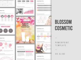 Blossom Cosmetic Vertical PowerPoint
