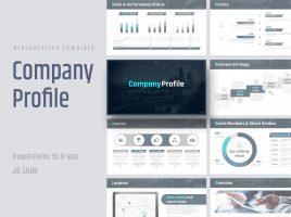 Blue Company Profile PPT Template