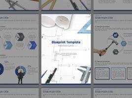 Blueprint PowerPoint Template Vertical