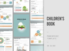 Children's Book PowerPoint Template Vertical