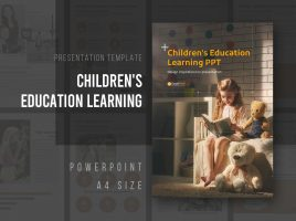 Children's Education Learning PPT Vertical